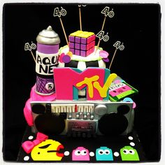 80's party decorations | 80s Cake and Cupcake Ideas and Supplies
