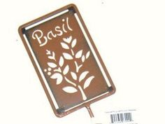 Garden Treasures Basil Pot/Garden Stake by Garden Treasures. $9.99. Every herb garden or pot should be adorned with this wonderful stake.