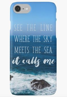 """Moana iphone case or samsung galaxy phone case. """"See the line where the sky meets the see it calls me"""""""