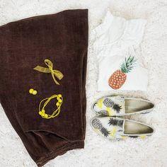 Thrift Store Cosplay Day 4 flat lay Spongebob Squarepants fashion blog post