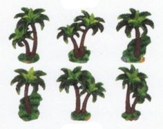 PALM TREE 3 Dimensional Magnet Set Of 6 Magnets *NEW!*: Kitchen