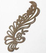 Glitter gold transfer folie printer pauw iron patches stickers decals versiering naaien accessoires voor diy 20 stuk th82(China (Mainland))