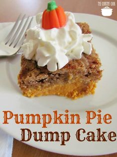 Pumpkin Pie Dump Cake The Country Cook - Pumpkin Pie Dump Cake gets it's name by dumping the ingredients into the baking dish. It is like pumpkin pie topped with spice cake and it serves up great! #pumpkinpiedumpcake #dessert