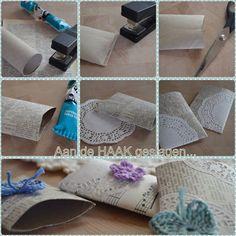 Envelopes from toilet paper rolls, tutorial