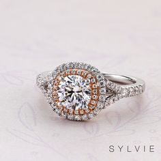 55c1e9d033766 58 Best Double Halo Engagement Rings images in 2019 | Double halo ...