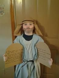 Image result for how to make a cardboard stand-up for a child of moses