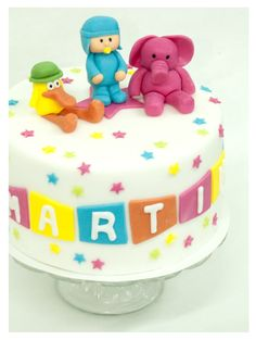 pocoyo Character Cakes, Let Them Eat Cake, Birthday Cake, Tv, Disney, Desserts, Ideas, Food, Design