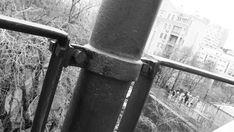 #narkomfin Отреставрировали ограждения. Поставили на место. Помазали герметиком стыки во избежании  коррозии.