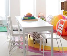Turn a formal dining room into a playroom with these easy tips