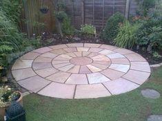 Circular Sandstone Paving Kit – Teras – Home Decoration