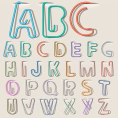 Get Clip Paper Alphabet royalty-free stock image and other vectors, photos, and illustrations with your Storyblocksmembership. Paperclip Crafts, Wire Crafts, Lettering Tutorial, Wire Bookmarks, Paper Clip Art, Alphabet Design, Alphabet Letters, Typography Alphabet, Letter Tracing