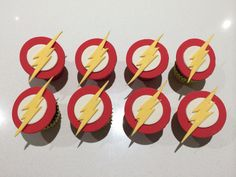 Flash red velvet cupcakes