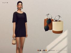 The Sims Resource: Bonsai Bucket Bag by SLYD • Sims 4 Downloads