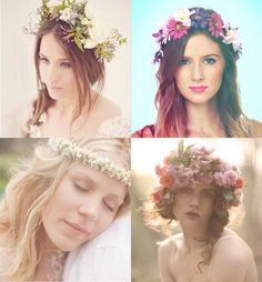 12 Great Flower Crown Tutorials // I've posted some of these separately, but it's a good list with a variety of FC styles to try.