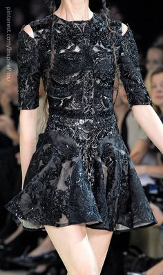 Alexander McQueen. Haute Contour meets Death. Its Dark and Haunting and the devils in the details...