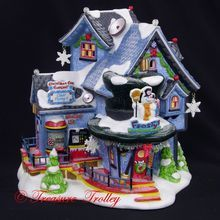 Department Dept 56 North Pole Frosty Christmas Weather Station Repaired Figurine