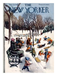 New Yorker New York Covers Print at the Condé Nast Collection