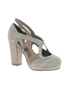 snakeskin and suede in a pretty grey.