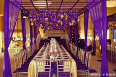 A purple and gold winter wedding... stunning and so JMU