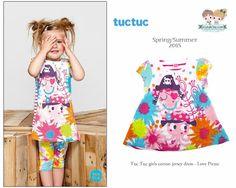 #Girls jersey #dress from the Spanish brand #TucTuc, Spring/Summer 2015.  Shop now at www.kidsandchic.com/girls-jersey-dress-tuc-tuc-love-pirate.html  #kidsfashion #kidsboutique #kidsandchic #barcelona #castelldefels #modainfantil #ropainfantil #shoponline #compraonline #niña