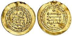 Abbasid, al-Muqtadir, AV Donative Dinar, 3.96g, Madinat al-Salam, AH313, naming heir Abu'l 'Abbas below obverse legend (Bernardi 242Jh; A.245.2)