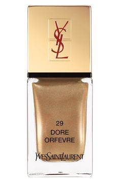 Gold YSL Nail Lacquer