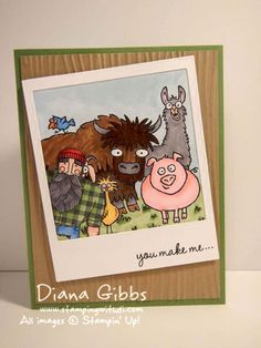From the Herd meets Paul the Photobomber by Stampin Di - Cards and Paper Crafts at Splitcoaststampers
