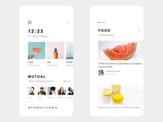 My life app design find food list annex