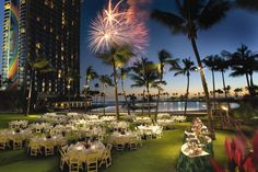 Hilton Hawaiian Village - banquet on the great lawn