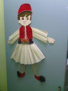 Τσολιας 25 March, Crafts For Kids, Diy Crafts, Elf On The Shelf, 1 Decembrie, Holiday Decor, Kindergarten, School, Home Decor