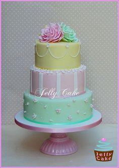 Pretty Pastels Wedding Cake