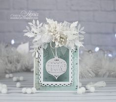 Christmas card with bauble - Scrapbook.com