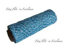 Geschenkband - Bäcker-Garn Bakers Twine hellblau - ein Designerstück von Fitzi-Floet bei DaWanda