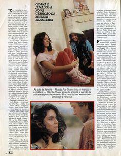 """Cláudia Ohana em Paris: """"Eu mereço o sucesso"""" - reportagem na revista """"Manchete"""" em 1986 - página 2/2."""