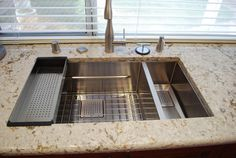 Beautiful Franke Peak sink installation! Makes use of colander and ...