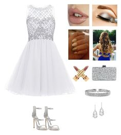 """Snowflake Angel ❄️"" by rusher-11 ❤ liked on Polyvore featuring Giuseppe Zanotti, Edie Parker, Yves Saint Laurent, Plukka and Bling Jewelry"