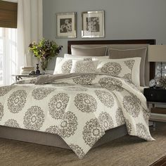 Stone Cottage Medallion 100-percent Cotton Sateen 4-piece Comforter Set | Overstock.com Shopping - The Best Deals on Comforter Sets