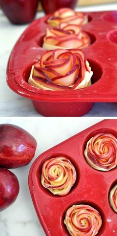 Apple Tarts recipe. I love the fact that they look like roses.