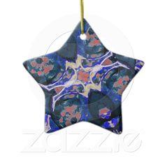 Decorative Retro Ornament from Zazzle.com    decorative , blue , nature , retro , red , symmetric , female , flower , digital , elegant , decoration , women , teens , flowers , natural