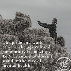 The days are long. Conditions are tough. The work is never-ending. Resiliency is a skill that is used every day on the farm. Can't we put it to work to take better care of the people of agriculture? Give yourself permission to take a mental break today. #mentalhealthmonday Finding Meaning In Life, Mental Break, Mental Health Resources, New Program, Work Ethic, Health Challenge, Farmers, Agriculture, Mother Nature