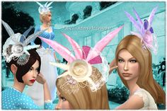 Vintage Hat Fascinators at Mythical Sims • Sims 4 Updates