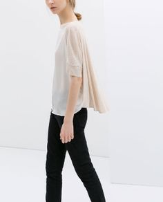 ZARA - NEW THIS WEEK - T-SHIRT WITH COMBINED FRONT