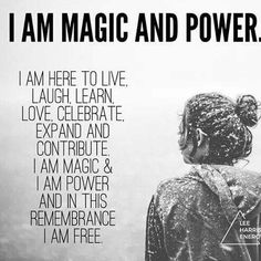 You are #magic  #powerful #celebrate #live #love #free #beyou #loveyourlife #loveyourself #createrich #manifestpowerfully #richgirls #richgirlsinc #iamarichgirl