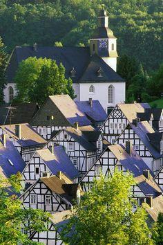 Fachwerk houses in Germany- beautiful!