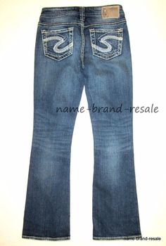 0c604a323d4 SILVER AIKO BOOTCUT Jeans Womens Juniors 25 x 30 Low Rise Boot Cut STRETCH # SilverJeans #AIKOBOOTCUT