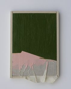 Justyn Hegreberg - pink and green with masking tape three
