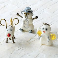 """Cornstarch Clay Creatures - I need some """"stick on"""" supplies though - scrapbookers would have plenty!"""