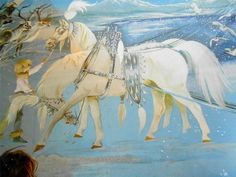 Wishing for snow Horse Illustration, Simple Blog, Snow Queen, Reference Images, Nursery Rhymes, Golden Age, Illustrators, Anne Graham, Fairy Tales