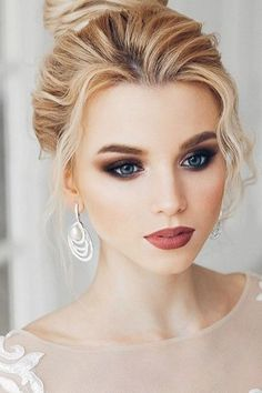30 Stylish Wedding Hair And Makeup Ideas ❤ If you're looking for stylish wedding hair and makeup ideas our collection'll help you to choose the best look. We gathered different styles and mixed them. See more: http://www.weddingforward.com/wedding-hair-and-makeup/