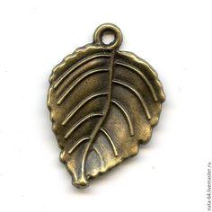 Купить Березовый листик - украшения ручной работы, авторские украшения, фурнитура для украшений, фурнитура для бижутерии